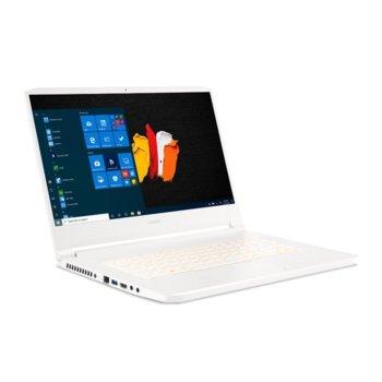 "Лаптоп Acer ConceptD 7 Pro CN715-72P-71DW (NX.C60EX.004)(бял), осемядрен Comet Lake Intel Core i7-10875H 2.3/5.1 GHz, 15.6"" (39.62 cm) 4K/UHD IPS Anti-Glare Display & Quadro RTX3000 6GB, (mDP), 16GB DDR4, 1TB SSD, Windows 10 Pro  image"