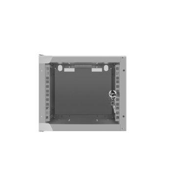 "Комуникационен шкаф Lanberg WF10-2304-10S, 10"", 4U, 280 x 310 x 247 mm, сив image"