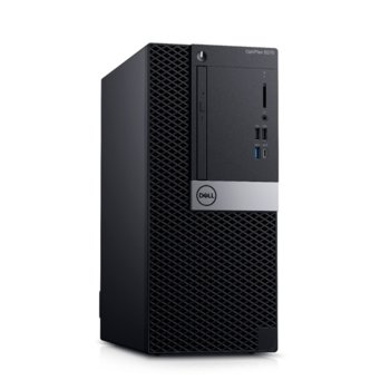 Настолен компютър Dell Optiplex 5070 MT (#DELL02541), шестядрен Coffee Lake Intel Core i7-8700 3.2/4.6 GHz, 32GB DDR4, 512GB SSD, 1x USB 3.1 Gen 2 Type-C, клавиатура и мишка, Windows 10 Pro image