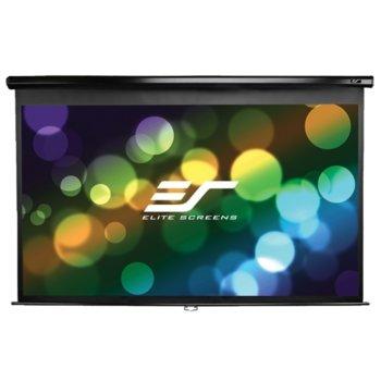 "Екран Elite Screen M135UWH2 Manual, стенен/таванен монтаж, MaxWhite, 2980 x 1670 мм, 135"" (342.9 cm), 16:9 image"
