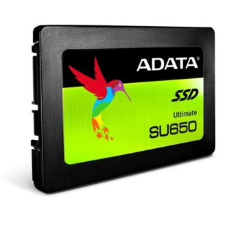"""Памет SSD 120GB A-Data SU650, SATA 6Gb/s, 2.5""""(6.35 cm), скорост на четене 520MB/s, скорост на запис 450MB/s image"""
