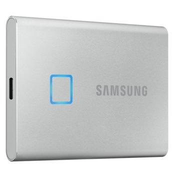 Памет SSD 500GB, Samsung T7 Touch (MU-PC500S), външeн, USB 3.2 Type C, скорост на четене 1050 MB/s, скорост на запис 1000 MB/s image