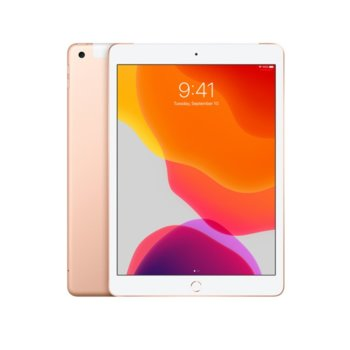 "Таблет Apple iPad 7 10.2"" (MW6G2HC/A)(Gold), Wi-Fi + Cellular, LTE, 10.2"" (25.90 cm) IPS Retina дисплей, четириядрен A10 Fusion 2.34GHz, 2GB RAM, 128GB Flash памет, 8.0 & 1.2 Mpix, iPadOS, 493g image"