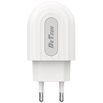 Зарядно устройство 31173, от контакт към USB Type-A(ж), 5V/2.4A, бяло image