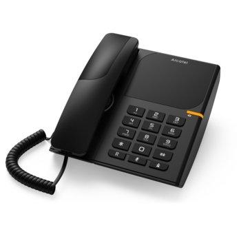 Стационарен телефон Alcatel T28, LED идентификатор на повикване, черен image