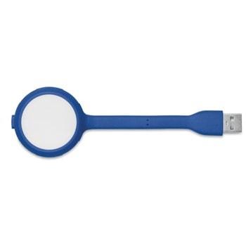 USB лампа More Than Gifts MO8670-05, USB, LED, 4x USB входа, възможност за надписване и брандиране чрез тампонен печат, синя image