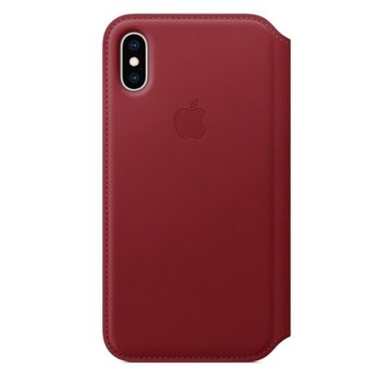 Apple iPhone XS Leather Folio Red product