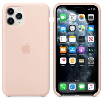 Калъф за Apple iPhone 11 Pro Max, силиконов, Apple Silicone Case MWYY2ZM/A, розов image