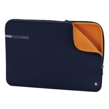 """Калъф за лаптоп Hama Neoprene, за лаптопи до 17.3""""(43.94cm), неопренов, син image"""