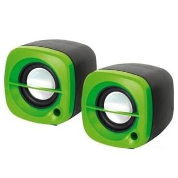 Мини Аудио Система Kisonli 15G, 2.0, 2x3W, 3.5mm стерео, зелен image