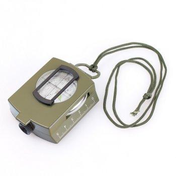 Компас Levenhuk Army AC10, за навигация и ориентиране, с течност, прорез за виждане, мащабни карти и нивелир с мехурче, две скали: скала в сантиметри и скала в инчове, кафяв image