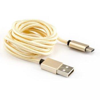 Кабел SBOX, от USB A (м)към USB C (м), 1.5 м, златист image