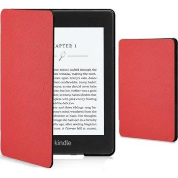 Калъф за електронна книга с подарък протектор за екрани и стилус, за Kindle Paperwhite 4 (2018), червен image