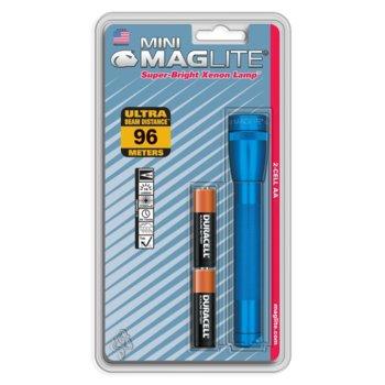 Фенер Mini MAGLITE, 2x батерии AA, 14lm, водоустойчивост, блистер, син image