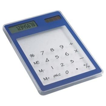 Калкулатор More Than Gifts Clearal, 8 разряден дисплей, дбожен, възможност за надписване и брандиране, дигитален печат, тампонен печат, син image