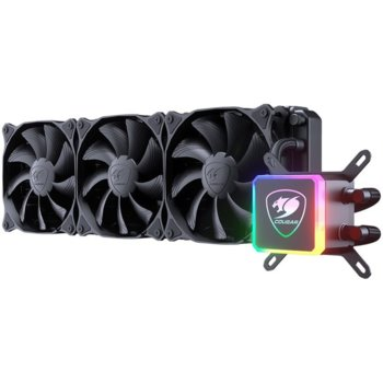 Водно охлаждане за процесор Cougar AQUA 360 (3MAQU360.0001), съвместимост със сокети LGA 775/1155/1156/1151/1366/2011/2066 & AMD AM4/FM2/FM1/AM3+/AM3/AM2+/AM2 image
