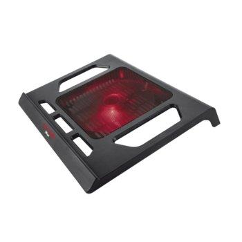"""Охлаждаща поставка за лаптоп, Trust GXT 220, за лаптопи до 17"""" (43.18 cm), подсветка, черна image"""
