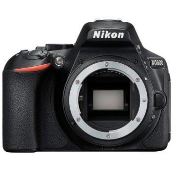 "Фотоапарат Nikon D5600 в комплект с обектив Nikon AF-P 18-55mm VR и обектив Nikon DX 35mm, 24.2 Mpix, 3.2"" (8,1 cm) TFT дисплей, Wi-Fi, SDXC, HDMI (Type C), Bluetooth, USB image"