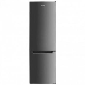 Хладилник с фризер Samus SCX342, клас F, 262 л. общ обем, свободностоящ, 263 kWh/годишно, регулируем термостат, вътрешно LED осветление, реверсивни врати, инокс image