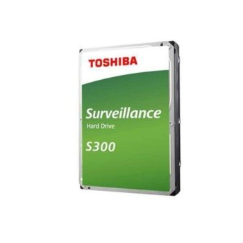 """Твърд диск 4TB Toshiba S300, SATA 6Gb/s, 5400 rpm, 128MB, 3.5"""" (8.89cm), Bulk image"""