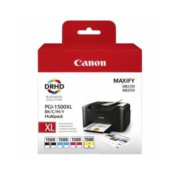 Мастило за Canon MAXIFY MB2050, MAXIFY MB2350 - Cyan/Magenta/Yellow/Black - BS9182B004 - 1500XL - 1200к image