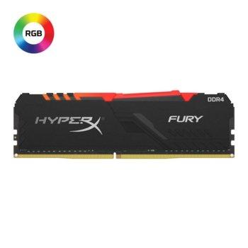 Памет 8GB DDR4, 3200hz, Kingston HyperX Fury RGB, HX432C16FB3A/8, 1.35 V image