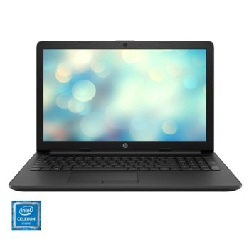 """Лаптоп HP 15-da0194nq (9PN37EA), двуядрен Gemmini Lake Intel Celeron N4000 1.1/2.6 GHz, 15.6"""" (39.62 cm) HD Anti-Glare Display, (HDMI), 4GB DDR4, 256GB SSD, 2x USB 3.1, No OS, 1.77g. image"""
