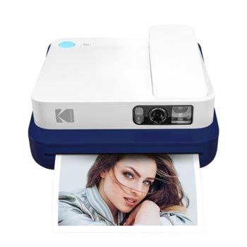 Мобилен принтер Kodak Smile Classic Blue RODCLASBL, цветен термичен фотопринтер, micro SD слот, Bluetooth, син image