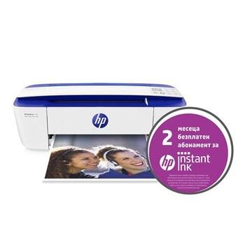 Мултифункционално мастиленоструйно устройство HP DeskJet 3760, цветен принтер/копир/скенер, 1200 x 1200 dpi, 19 стр/мин, WI-FI, USB, А4 image