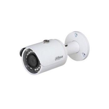 """HDCVI камера Dahua HAC-HFW1400S-POC, насочена """"bullet"""", 4 Mpix(2560x1440@25fps), 2.8mm обектив, IR осветеност (до 30м), външна, IP67 защита image"""