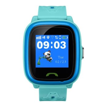"Смарт часовник Canyon Polly, 1.22"" (3.09 cm) сензорен дисплей, microSIM слот, SOS бутон, IP68 водоустойчивост, двупосочни разговори, син image"