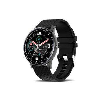 Смарт часовник H30, 42mm, Bluetooth V4.0, IP67, Черен image