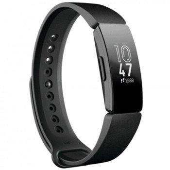 Смарт фитнес гривна Fitbit INSPIRE BLACK FB412BKBK, LCD сензорен екран, Крачки Изминато разстояние, Входящи повиквания, Календар, Дишане, Мониторинг на съня, Android, iOS, черна image