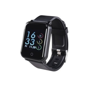 "Смарт гривна Hama Fit Track 5900, 1.3"" (3.3 cm) сензорен дисплей, Bluetooth, IP68 водоустойчивост, iOS/Android, черен image"