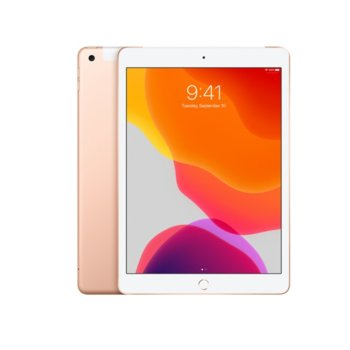 "Таблет Apple iPad 7 10.2"" (MW762HC/A)(Gold), Wi-Fi, 10.2"" (25.90 cm) IPS Retina дисплей, четириядрен A10 Fusion 2.34GHz, 2GB RAM, 32GB Flash памет, 8.0 & 1.2 Mpix, iPadOS, 483g image"