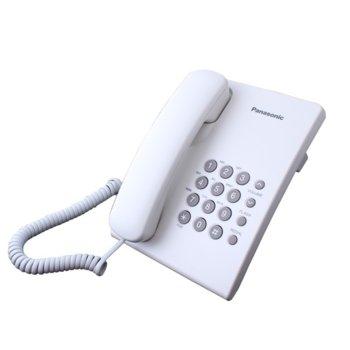 Стационарен телефон Panasonic KX-TS500, 1 линия, бял image