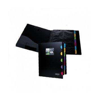 Визитник Snopake Eligo, формат А4, събира 500бр. визитки, черен image