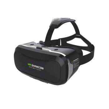 """Очила за виртуална реалност ShineconVR 2.0, 90° зрителен ъгъл, съвместими със смартфони с диагонал от 4.7"""" до 6.0"""", черни image"""