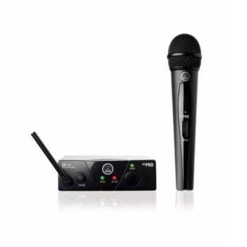 Аудио система с безжичен микрофон AKG WMS40, (plug'n'play), Wireless, черен image