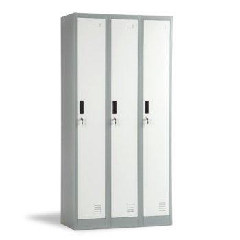 Гардероб Carmen CR-1242 J LUX, 3 бр. шкафове, метален, сив image