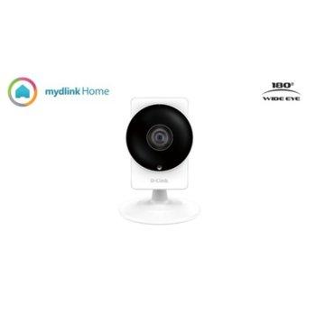 Уеб камера D-Link HD 180-Degree Wi-Fi Camera, микрофон, 1 Megapixel progressive CMOS sensor, microUSB, microSD/SDXC card slot  image