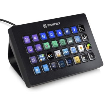 Стрийминг контролер Elgato Stream Deck, 32 цветни LCD бутона, USB image