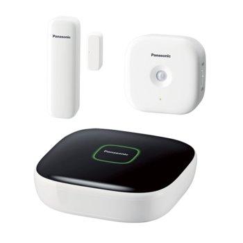 """Стартов пакет Panasonic KX-HN6010FXW(HUB,датчик за врата/движение), система """"умен дом"""" за контрол в дома, външен/вътрешен обхват 300/50м, поддържа 802.11b/g/n, microSDHC слот image"""