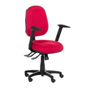 Офис стол Danila, газов амортисьор, заключване седалка и облегалка в различни позиции, червен image