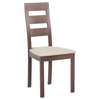 Трапезен стол Carmen PABLO, бук, дамаска, орех/порцелан image