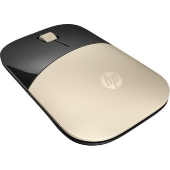 Мишка HP Z3700 Gold Wireless Mouse (X7Q43AA), оптична(1200 dpi), безжична, USB, златиста image