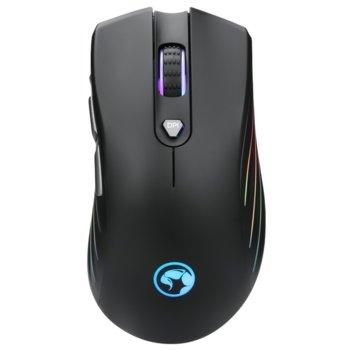 Мишка Marvo G813, оптична (7200 DPI), USB, черна, RGB, геймърска image
