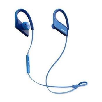 Слушалки Panasonic RP-BTS35E-A, безжични, Bluetooth, до 6 часа време на работа, микрофон, водоустойчиви IPX5, сини image