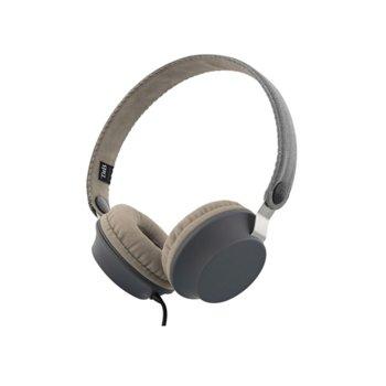 Слушалки TnB Legend, микрофон, 40мм говорители, бутон за разговори, USB Type C, сиви image