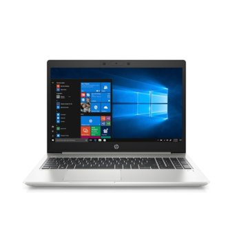 "Лаптоп HP ProBook 450 G7 (8MH04EA)(сребрист), четириядрен Comet Lake Intel Core i7-10510U 1.8/4.9 GHz, 15.6"" (39.62 cm) Full HD IPS Anti-Glare Display, (HDMI), 8GB DDR4, 256GB SSD, 1x USB 3.1 Type-C, Free DOS image"